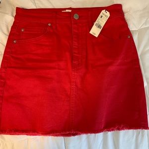 NWT red skirt